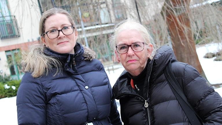 Johanna Kindberg Bakos och Lena Wahlgren.