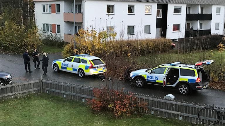Två patruller griper en man inne i Hjältevad.