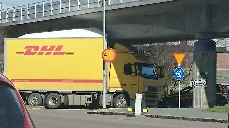 Lastbilen som fastnade i Undergången.