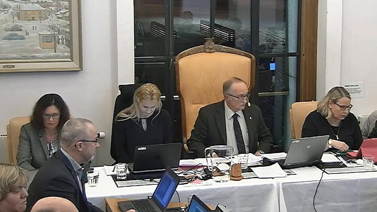 Kommunfullmäktigemötet i Tranås den 12 februari 2018.