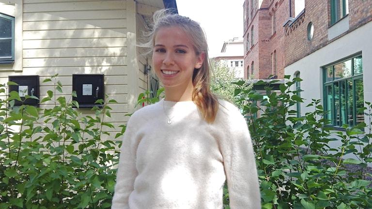 närbild på Sara Dädeby