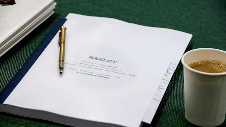 Manus för Hamlet.
