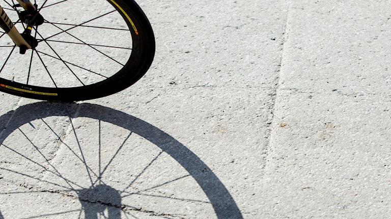 Cykelhjul.