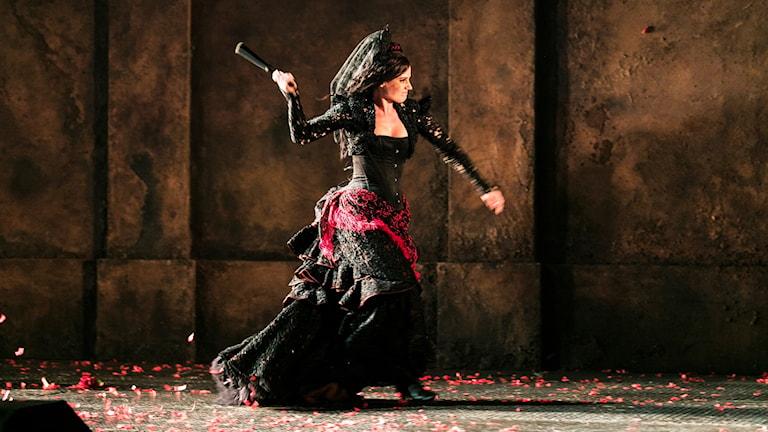 Katarina Giotas som Carmen.Foto Mats Bäcker.