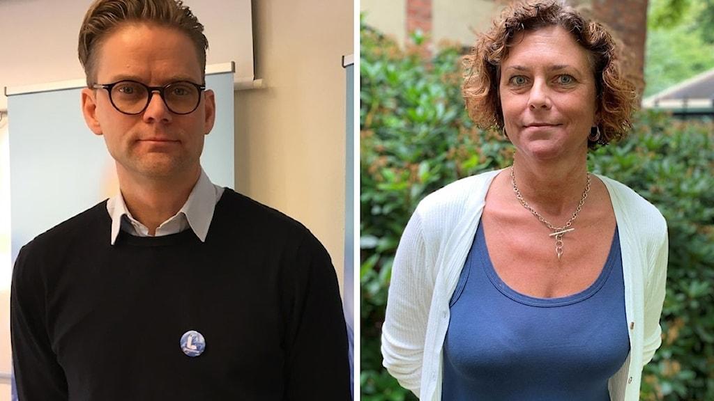 Jakob Olofsgård och Emma Carlsson Löfdahl.