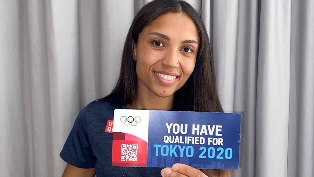 Kvinna med OS-biljett