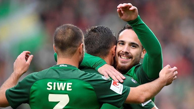 Dzenis Kozica J-Södra gjorde 1-0.