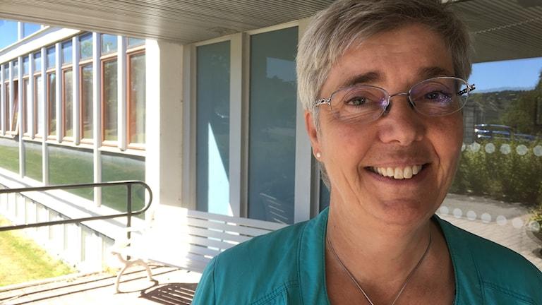 Agneta Jansmyr, regiondirektör Region Jönköpings län. Foto: Dan Segerson/Sveriges Radio.
