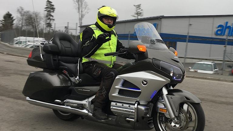 Bengt Ljunggren på motorcykel