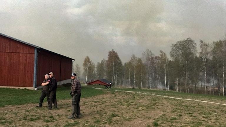 Brand utanför Gnosjö.
