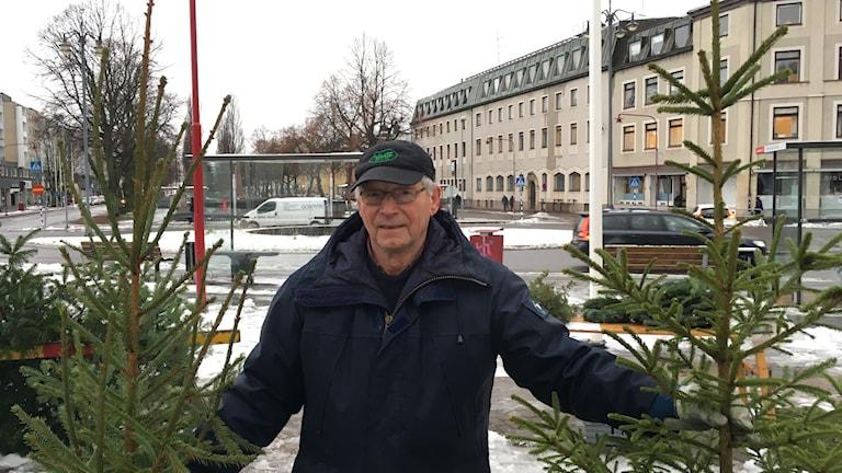 Uno Axelsson har sålt julgranar i närmare 60 år.