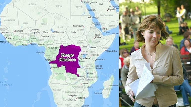 Zaida Catalán och karta Afrika