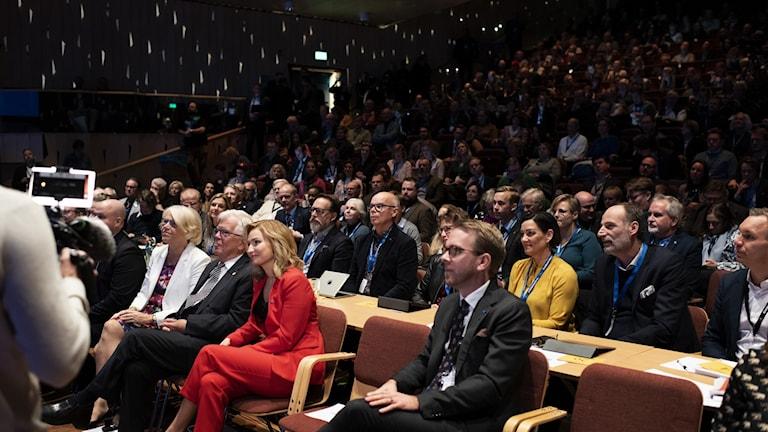 Sonja Svensson, Alf Svensson, Ebba Busch Thor och Jakob Forssmed under KD:s riksting i Umeå.
