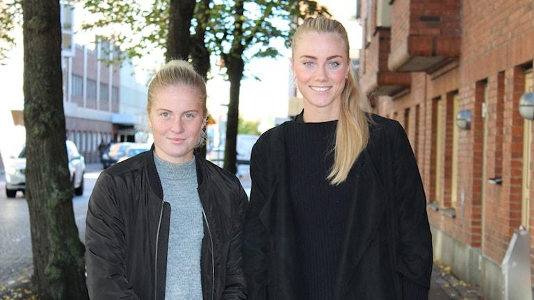 Emma Bergman och Julia Lindster.