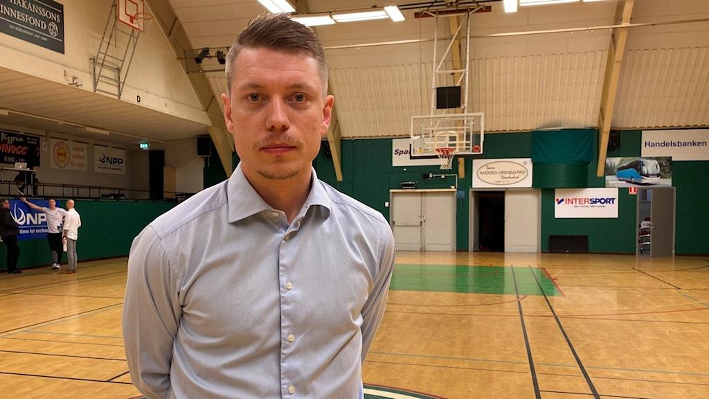 Huvudtränare i Nässjö Basket Joakim Källman.