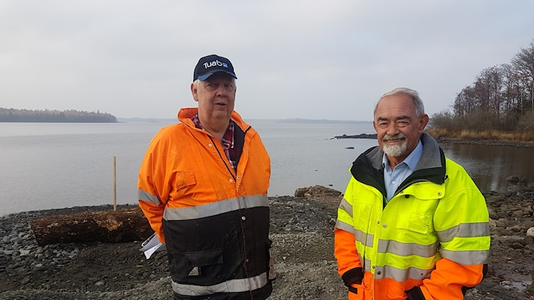 John-Erik Svensson och Kurt Kårhammer från projekt ramp Gavlö.