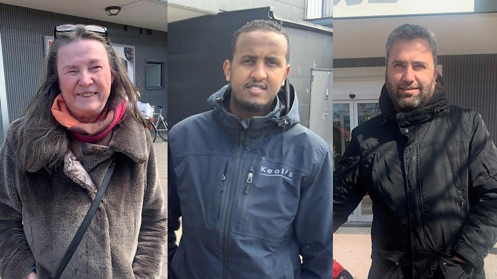 Helen Björk, Abdu Kadir Hassan och Sakris uppskattar fritiden och tiden med familjen nu under pandemin.
