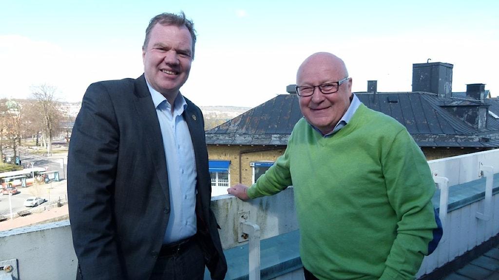 Karl-Erik Nilsson och Lars-Åke Lagrell. Foto: Tommy Nilsson/Sveriges Radio Jönköping