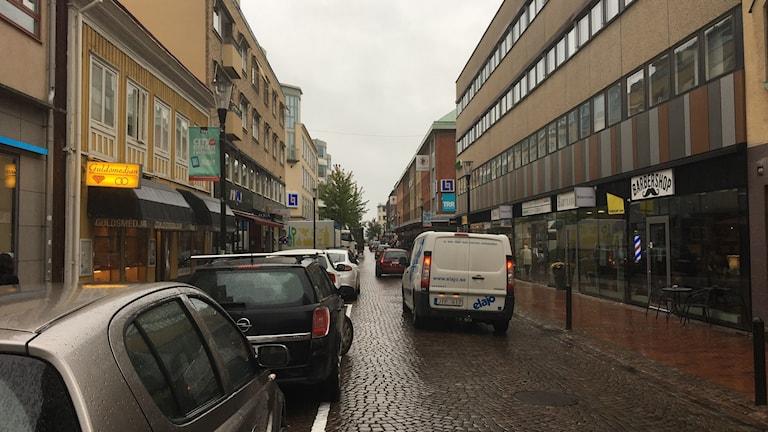 En gata på Väster i Jönköping.