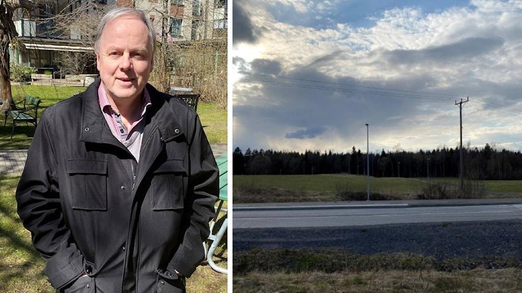Målö ängar är tänkt att bebyggas. Anders Samuelsson är ordförande i stadsbyggnadsnämnden.