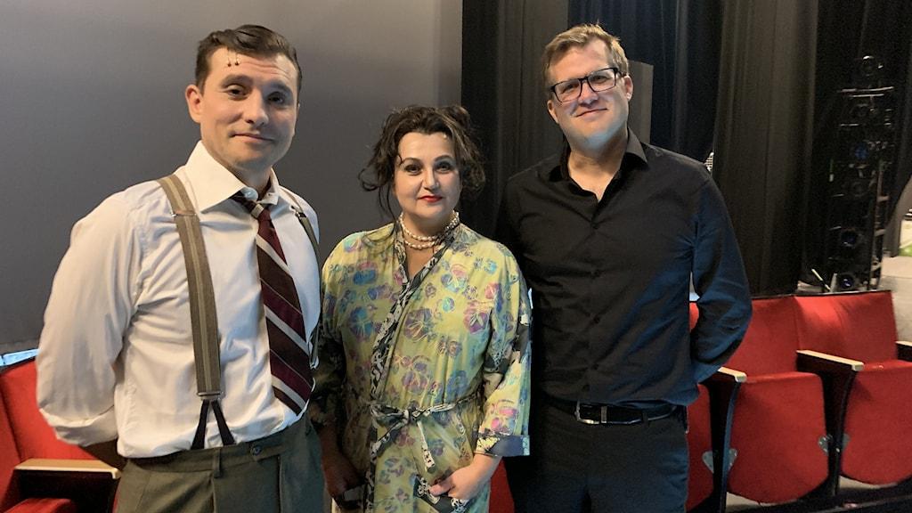 Från vänster: Glenn Edell, Vera Veljovic och  Nils-Petter Ankarblom.