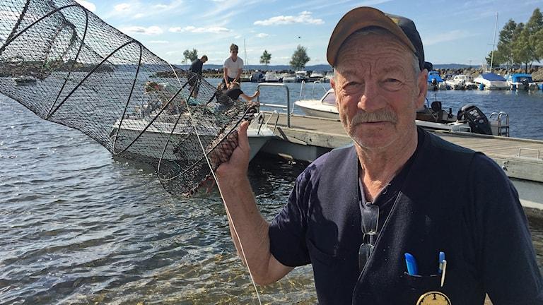 Göran Johansson kräftmjärde Jönköpings fiskeklubb kräftfångst