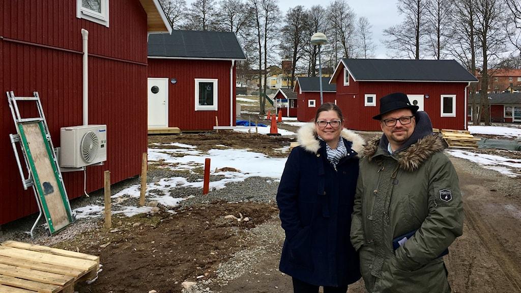 Marie Johansson, kommunstyrelsens ordförande Gislaved, och Niclas Palmgren, vice ordförande kommunstyrelsen Gislaved.