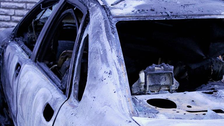 Utbränd bil.