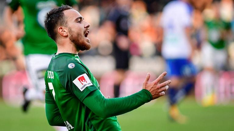 Dzenis Kozica gjorde 1-0.