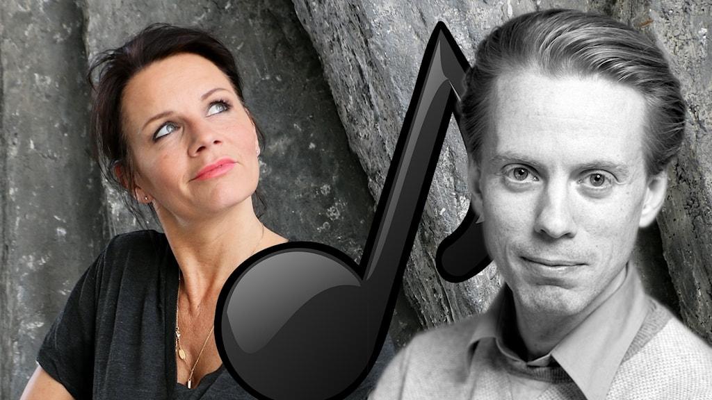 Kollage. Lena Philipsson och Oskar Mattisson.