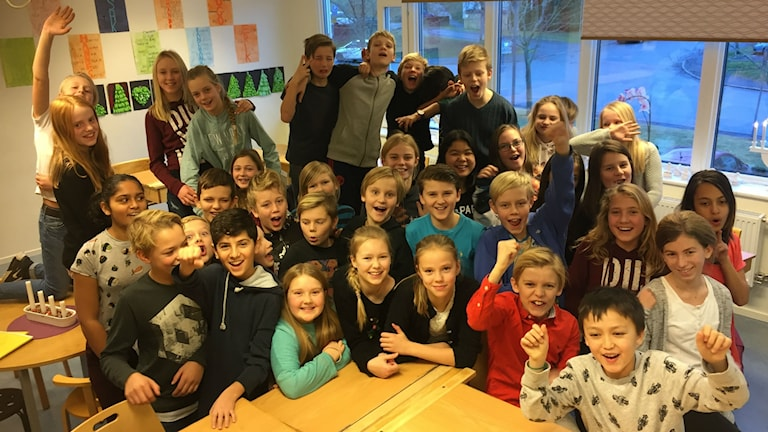 En klass på en skola i Jönköping