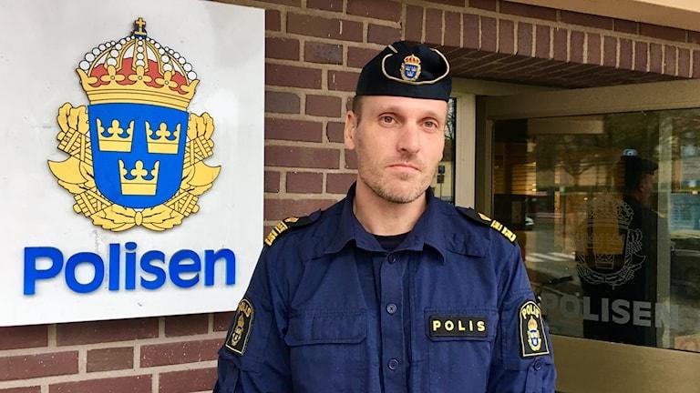 Mattias Ramsö, tillförordnad lokalpolisområdeschef i Värnamo.