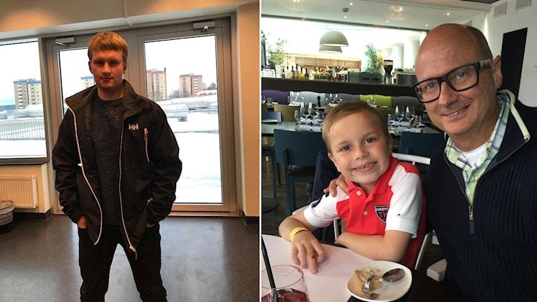 Montage: Anton Danielsson, till vänster och Lars Strid tillsammans med sin son till höger.