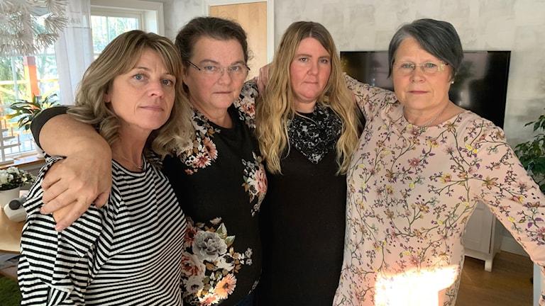 Sandra Jäderlind, Katarina Engvall Persson, Veronika Andersson och Ann-Kristin Widin som alla jobbar inom LSS i Arvika kommun