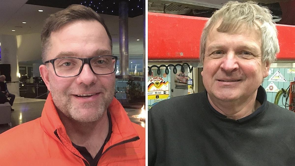 Arne Rådström och Mats Jonsson. Foto: Sveriges Radio.
