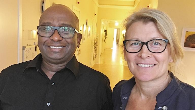 Abdirisak Afrah och Veronica Kindbom. Foto: Per Larsson/Sveriges Radio.