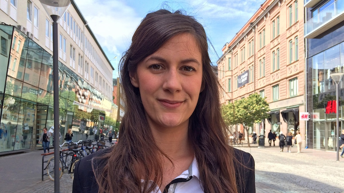 Fastighetsmäklaren Kristin Bryntesson i Karlstad. Foto: Laila Carlsson/Sveriges Radio