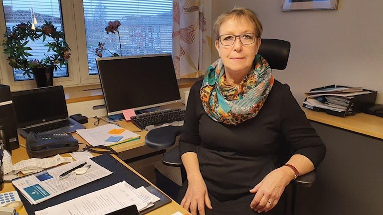 Ann-Katrin Järåsen (S), ordförande för kommunstyrelsen i Torsby. Foto: Aron Eriksson, Sveriges Radio.