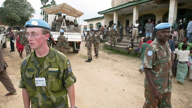 Nutida FN-soldater. Foto: OLA TORKELSSON/TT