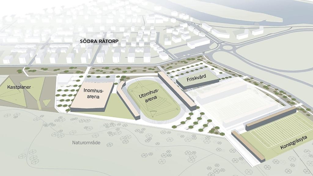 Karta som visar planerade byggen. Grafik: Tengbom