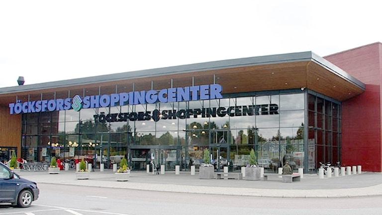 Töcksfors Shoppingcenter. Foto: Sveriges Radio.