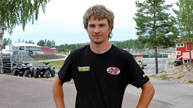 Sebastian Eriksson, rallycrossförare. Foto: Örjan Bengtzing/Sveriges Radio.