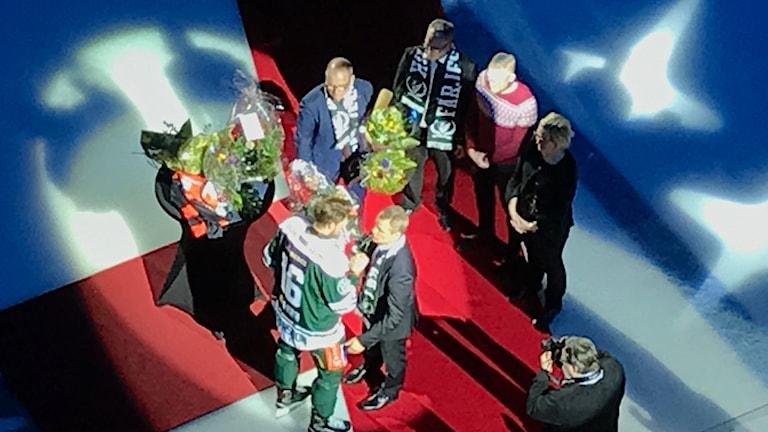 Hyllningsceremoni Håkan Loob