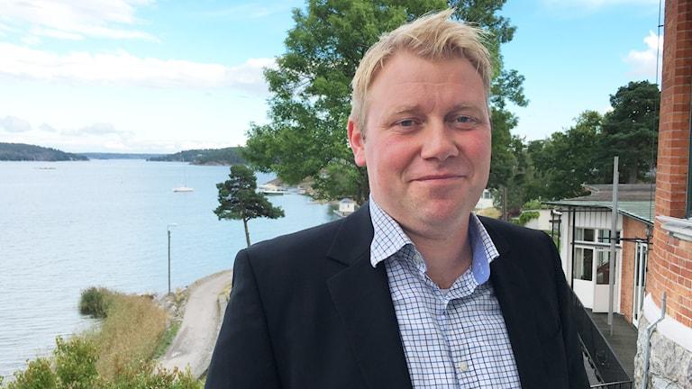 Olof Östblom, tävlingschef på Svenska ishockeyförbundet. Stefan Ladhe/Svenska Ishockeyförbundet.
