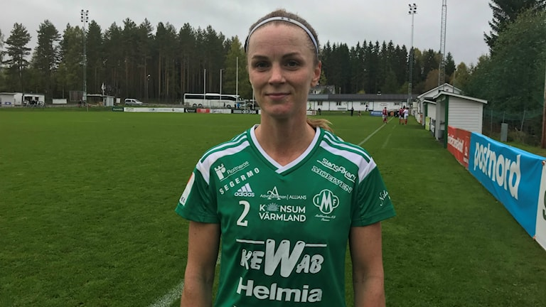 Theresé Stolpe och Mallbacken har det tungt i botten. Foto: Daniel Viklund/ Sveriges Radio.