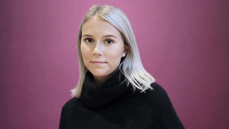 Madelene Leonsson, samordnare på Tjejjouren Miriam i Arvika. Foto: Lars-Gunnar Olsson/Sveriges Radio.