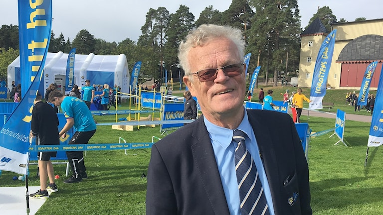 Björn Eriksson, Riksidrottsförbundets ordförande. Foto: Gustav Jacobson/Sveriges Radio.