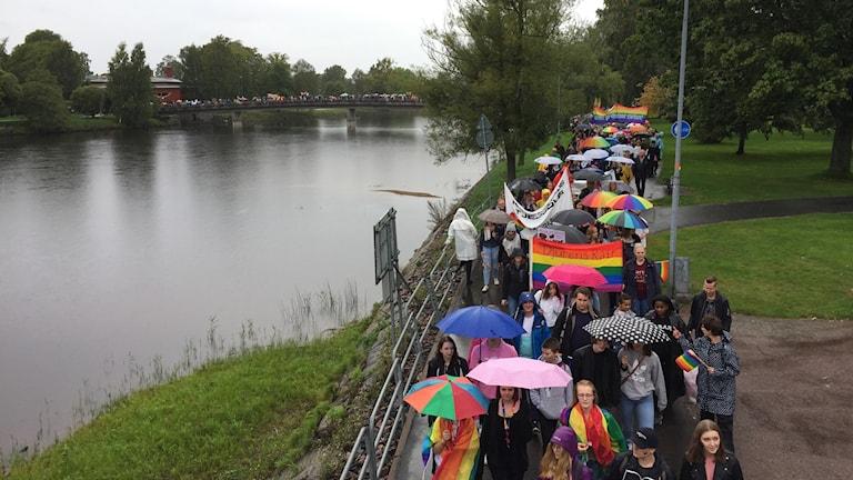 Prideparad i Karlstad.
