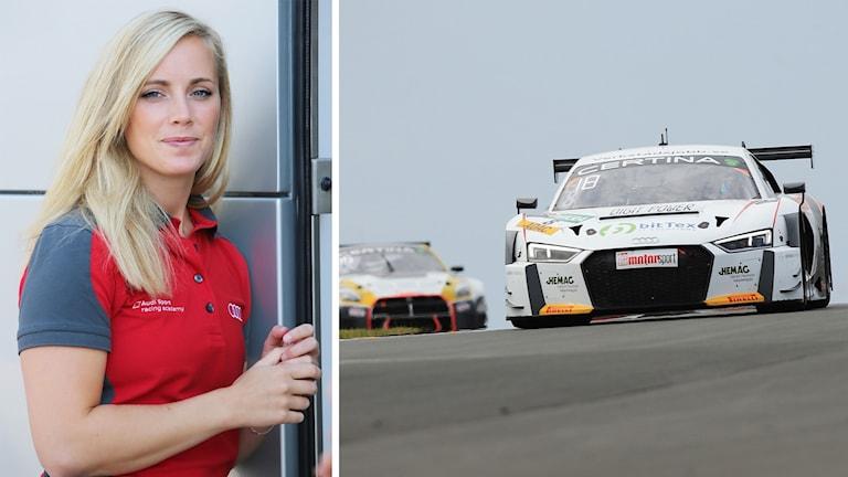 Mikaela Åhlin-Kottulinsky och bilen under tävlingen i Zandvoort. Foto: Marko Tarrach