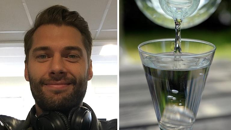Joel Edström från Karlstad som tävlar i SM i snapsvisor och ett glas snaps.